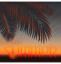 sundown vector image vector image