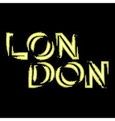 T shirt typography graphics london vector