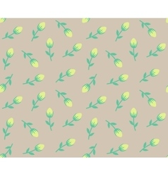 Tiny roses seamless background vector image