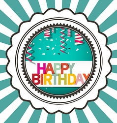 Happy birthday retro card vector