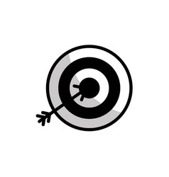 Figure flat icon arrow hitting a target vector