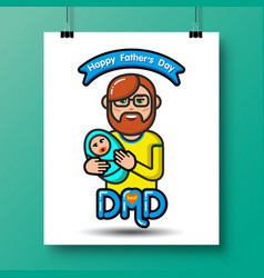 Fathers day icons 23 vector