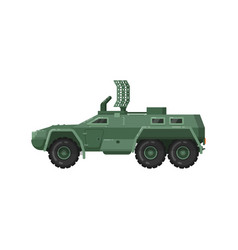 Modern armored vehicle isolated icon vector