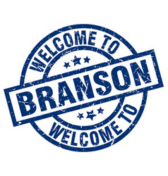Welcome to branson blue stamp vector