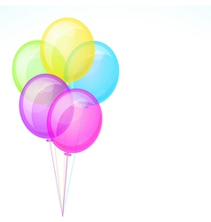 Five birthday celebration balloons isolated on vector