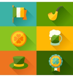 Saint patricks day background in flat design style vector