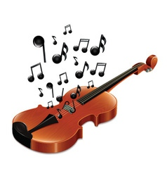 Violin with melody vector