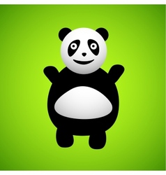 Panda cartoon character vector