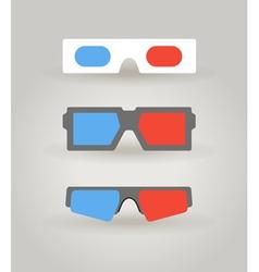 3dglasses vector image