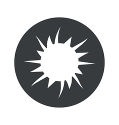 Monochrome round starburst icon vector