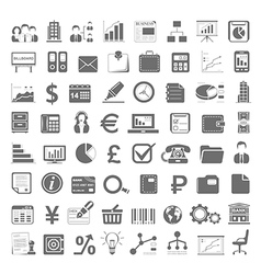 Black icons business and finance vector