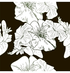 Wildflowers blooming delicate flowers background vector