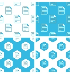 Document page patterns set vector