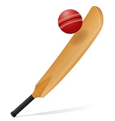 Cricket bat and ball 02 vector