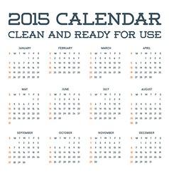 2015 clean calendar template mockup brochure vector