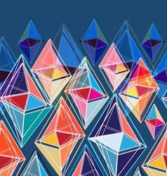 Bright seamless abstract pattern of polygons vector
