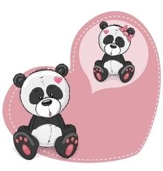 Dreaming Panda vector image