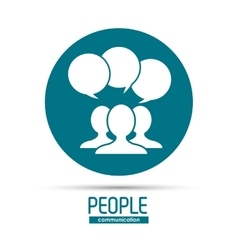 Person and bubble icon people design vector