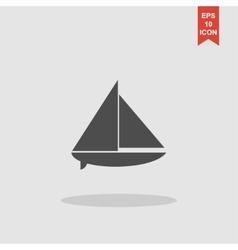 Boat black silhouette vector