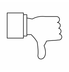 Thumb down gesture icon outline style vector
