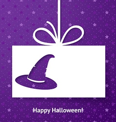 Applique card or background with magic hat vector
