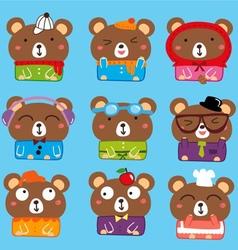 bear pattern vector image