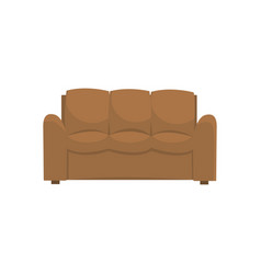 brown sofa or couch living room or office vector image vector image