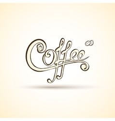 coffee shop labels with calligraphy vector image