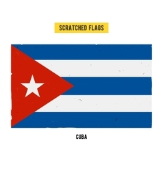 Cuban grunge flag with little scratches on surface vector