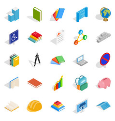 doctrine icons set isometric style vector image vector image