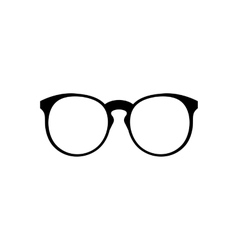 Eyeglasses icon simple vector