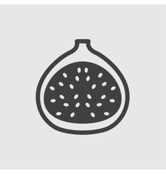 Fig icon vector