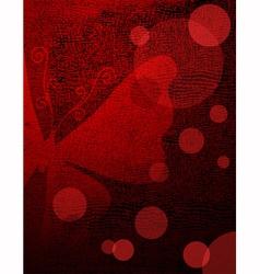 Grunge red-black frame vector image vector image