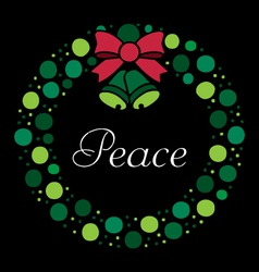 Holiday Wreath vector image vector image