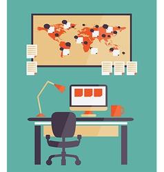 Home office for freelancer vector