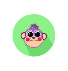 Icon monkey smiling isolated on white background vector