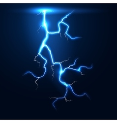 Lightning thunder storm background vector