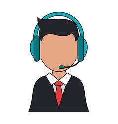 Man call center vector