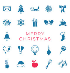 merry christmas card with christmas signs vector image