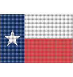Mosaic flag of texas vector
