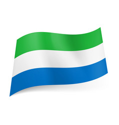 National flag of sierra leone green white and vector