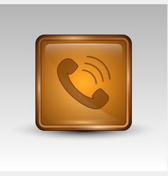 phone orange icon vector image