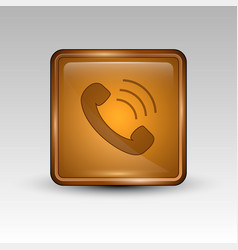 phone orange icon vector image vector image