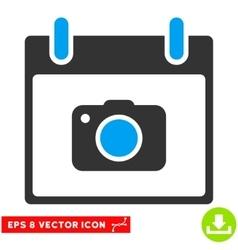 Photo camera calendar day eps icon vector
