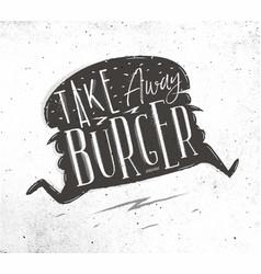 Poster take away burger vector