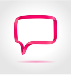 Rectangle magenta speech bubble vector image vector image