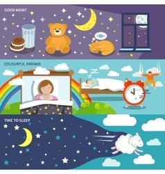 Sleep time banners vector image vector image