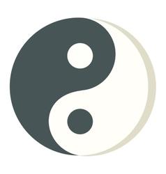 Yin Yang icon isolated vector image