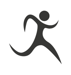 Human figure silhouette sporter athlete icon vector