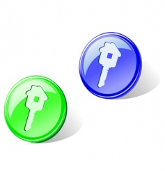 home key icons vector image